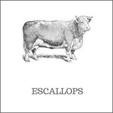 Escallops of beef